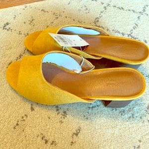 Mustard colored mules